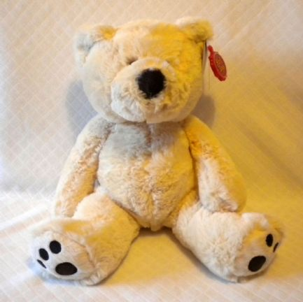 Floppy Bear, soft toy in cream colour.